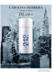 Carolina Herrera 212 Men Aqua EDT 100ml for Men Without Package Men's Fragrances without package
