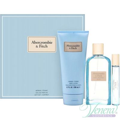 Abercrombie & Fitch First Instinct Blue for Her Set (EDP 100ml + EDP 15ml + BL 200ml) for Women Women's Gift sets