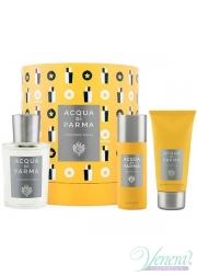 Acqua di Parma Colonia Pura Set (EDC 100ml + SG 75ml + Deo Spray 50ml) for Men and Women Unisex Gift sets