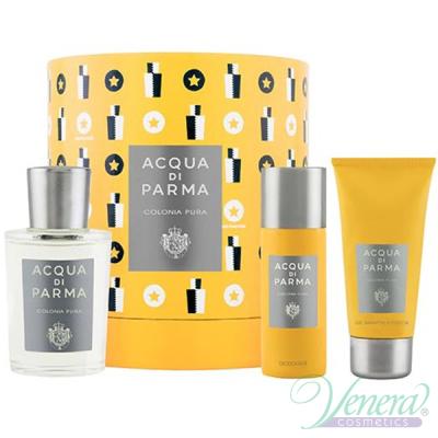 Acqua di Parma Colonia Pura Set (EDC 100ml + SG 75ml + Deo Spray 50ml) for Men and Women