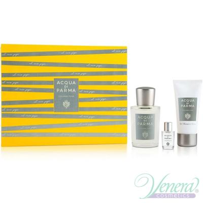 Acqua di Parma Colonia Pura Set (EDC 100ml + EDC 5ml + SG 50ml) for Men and Women Unisex Gift sets