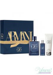 Armani Acqua Di Gio Profondo Set (EDP 75ml + EDP 15ml + SG 75ml) for Men