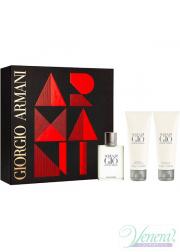 Armani Acqua Di Gio Set (EDT 100ml + AS Balm 75ml + SG 75ml) for Men Men's Gift sets