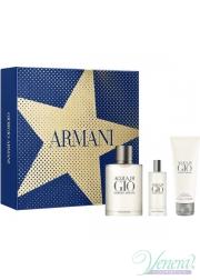Armani Acqua Di Gio Set (EDT 100ml + EDT 15ml + SG 75ml) for Men Men's Gift sets