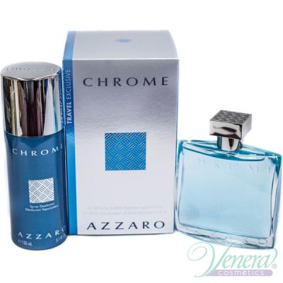 Azzaro Chrome Set (EDT 100ml + Deo Spray 150ml) for Men Men's Gift sets