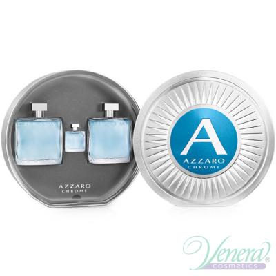Azzaro Chrome Set (EDT 100ml + AS Lotion 100ml + EDT 7ml) for Men Men's Gift sets