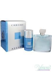 Azzaro Chrome Set (EDT 100ml + Deo Stick 75ml) for Men Men's Gift sets