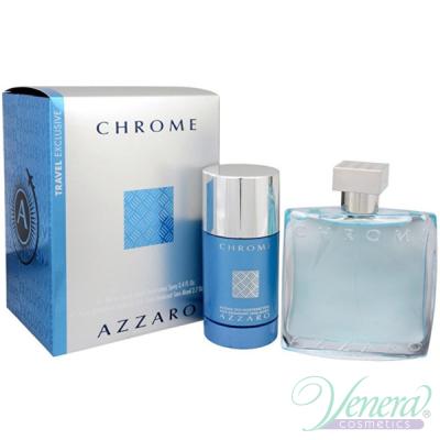 Azzaro Chrome Set (EDT 100ml + Deo Stick 75ml) for Men