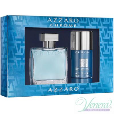 Azzaro Chrome Set (EDT 50ml + Deo Stick 75ml) for Men Men's Gift sets