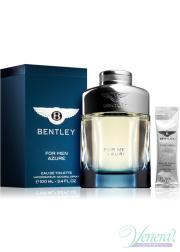 Bentley Bentley for Men Azure EDT 100ml + After Shave Balm 5ml for Men Men's Fragrance