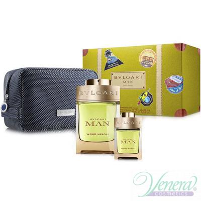 Bvlgari Man Wood Neroli Set (EDP 100ml + EDP 15ml + Bag) for Men