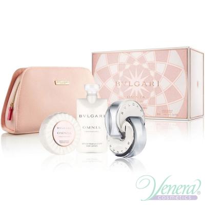 Bvlgari Omnia Crystalline Set (EDT 65ml + BL 75ml + Soap + Bag) for Women Women's