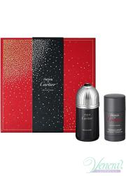 Cartier Pasha de Cartier Edition Noire Set (EDT 100ml + Deo Stick 75ml) for Men