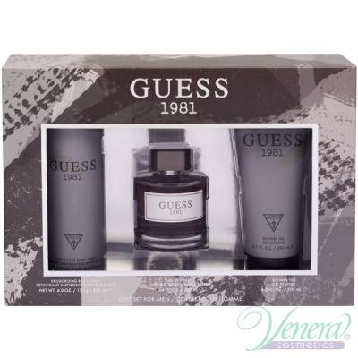 Guess 1981 Set (EDT 100ml + Shower Gel 200ml + Deo Spray 226ml) for Men Men's Gift sets
