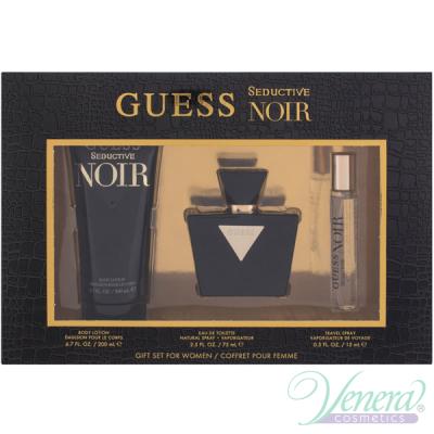 Guess Seductive Noir Set (EDT 75ml + EDT 15ml + BL 200ml) for Women Women's Gift Sets