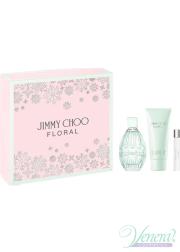 Jimmy Choo Floral Set (EDT 90ml + BL 100ml + EDT 7.5ml) for Women
