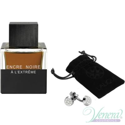 Lalique Encre Noire A L'Extreme Set (EDP 50ml + Cufflinks) for Men