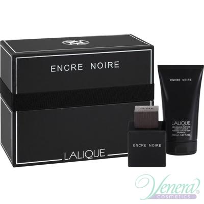 Lalique Encre Noire Set (EDT 100ml + SG 150ml) for Men Men's Gift sets