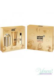 Mont Blanc Emblem Absolu Set (EDT 100ml  + EDT 7.5ml + SG 100ml) for Men Men's Gift sets