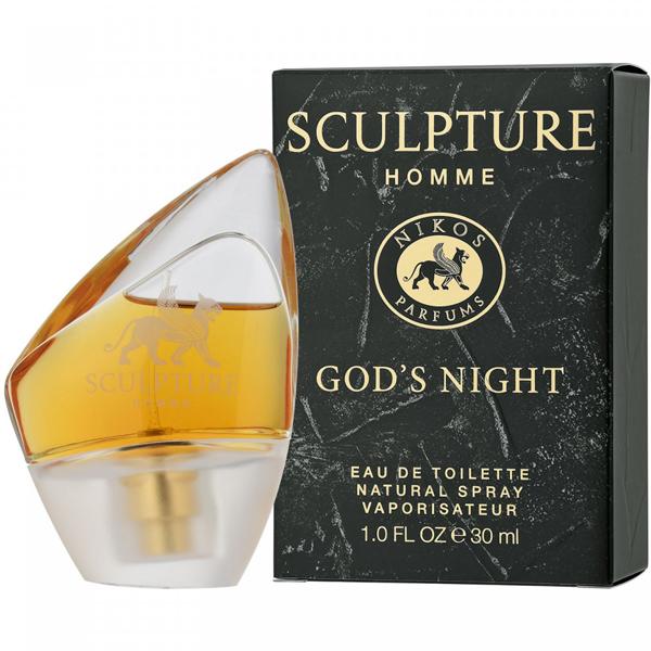 consenso Flecha fusión  Nikos Sculpture Homme God's Night EDT 30ml for Men | Venera Cosmetics
