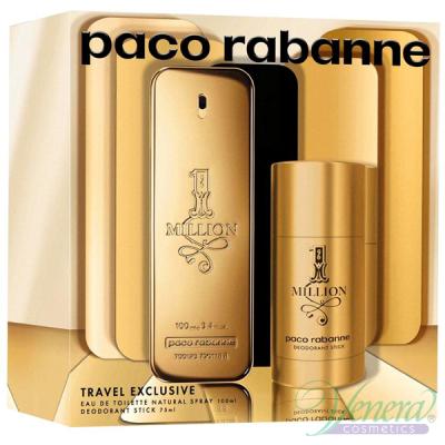 Paco Rabanne 1 Million Set (EDT 100ml + Deo Stick 75ml) for Men