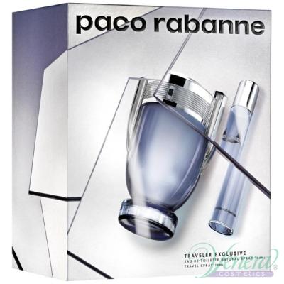 Paco Rabanne Invictus Set (EDT 100ml + EDT 20ml) for Men Men's Gift Sets