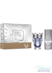 Paco Rabanne Invictus Set (EDT 100ml + Deo Spray 150ml) for Men Men's Gift sets