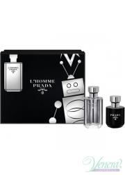 Prada L'Homme Set (EDT 50ml + Shower Cream 100ml) for Men Men's Gift sets