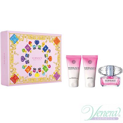 Versace Bright Crystal Set (EDT 50ml + BL 50ml + SG 50ml) for Women Women's