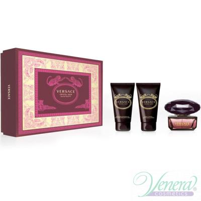 Versace Crystal Noir Set (EDT 50ml + BL 50ml + SG 50ml) for Women Women's