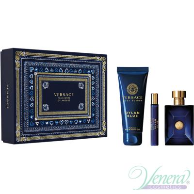 Versace Pour Homme Dylan Blue Set (EDT 100ml + EDT 10ml + SG 150ml) for Men Men's Gift sets