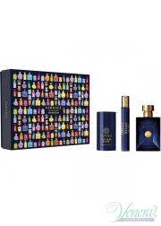 Versace Pour Homme Dylan Blue Set (EDT 100ml + EDT 10ml + Deo Stick 75ml) for Men Men's Gift sets
