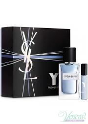 YSL Y For Men Set (EDT 100ml + EDT 10ml) for Men Gift Sets