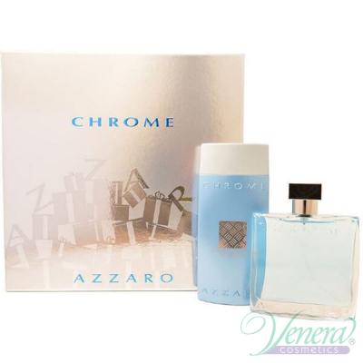 Azzaro Chrome Set (EDT 100ml + SG 200ml) for Men Men's Gift sets