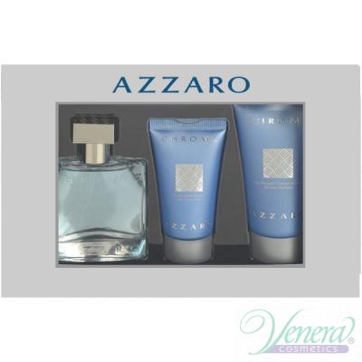 Azzaro Chrome Set (EDT 30ml + AS Balm 30ml + SG 50ml) for Men Men's