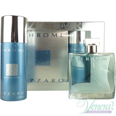 Azzaro Chrome Set (EDT 50ml + Deo Spray 150ml) for Men Men's Gift sets