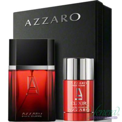 Azzaro Pour Homme Elixir Set (EDT 50ml + Deo Stick 75ml) for Men Men's Fragrance