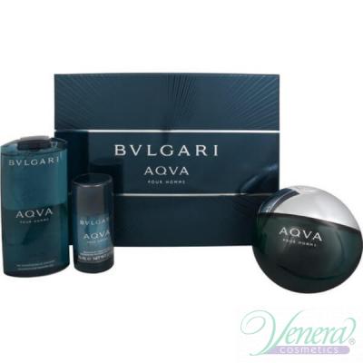 Bvlgari Aqva Pour Homme Set (EDT 150ml + Deo Stick 75ml + SG 200ml) for Men