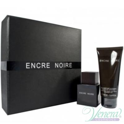 Lalique Encre Noire Set (EDT 50ml + SG 100ml) for Men Men's
