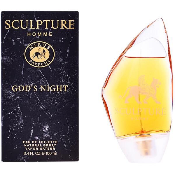 corona detalles Agnes Gray  Nikos Sculpture Homme God's Night EDT 100ml for Men | Venera Cosmetics