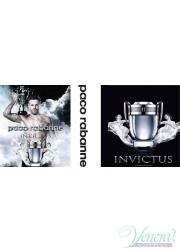 Paco Rabanne Invictus Set (EDT 50ml + Shower Gel 100ml) for Men Men's