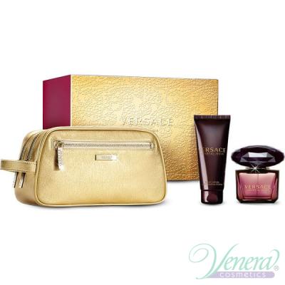 Versace Crystal Noir Set (EDT 90ml + BL 100ml + Bag) for Women Women's