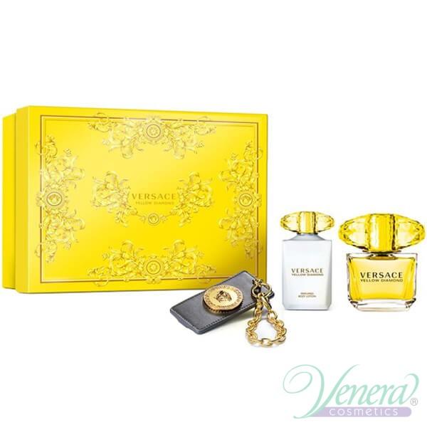 1ac6ae480466 Versace Yellow Diamond Set (EDT 90ml + BL 100ml + Bag Tag) for ...
